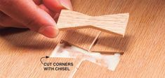 How to Make a Butterfly Inlay: DIY Butterfly Joints for Beginners #woodworkingforbeginners