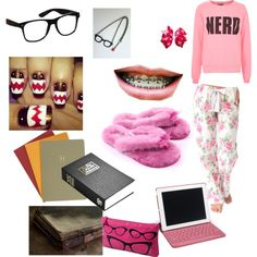 """""""Nerd home outfit"""" Nerd Outfits, Cute Outfits, Quiet Girl, Home Outfit, Geek Chic, Nerdy, Girl Fashion, Geek Stuff, My Style"""