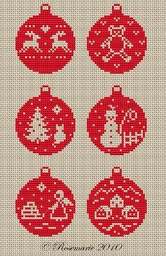 "Photo from album ""Christmas embroidery"" on Yandex. Christmas Perler Beads, Cross Stitch Christmas Ornaments, Christmas Embroidery, Christmas Cross, Christmas Balls, Xmas, Hama Beads Patterns, Beading Patterns, Beaded Cross Stitch"