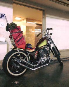 by Arthit Sangtaku Yamaha Virago, Bobber Bikes, Vintage Motorcycles, Old School, Vehicles, Inspiration, Biblical Inspiration, Car, Inspirational