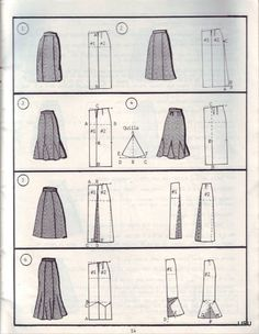 skirt pattern drafting ideas pages full Dress Sewing Patterns, Sewing Patterns Free, Free Sewing, Clothing Patterns, Skirt Patterns, Skirt Sewing, Shape Patterns, Sewing Clothes, Diy Clothes