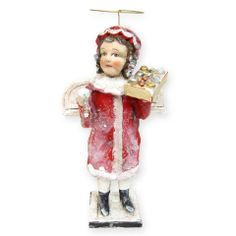 The Keeper of the Christmas Ornaments. Limited Editions Christmas Angel by Artist Debbee Thibault at TheHolidayBarn.com