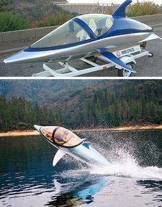 Wth is this!!? I have never wanted a speed boat thing until this moment.... It works as a speed boat and a submarine!