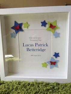 Handmade personalised frames made to order. Pick from  Boy/ Girl Birth   Boy/ Girl Christening   Boy/ Girl Birthday   Wedding   Engagement