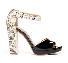 Python heels - add a touch of animal print