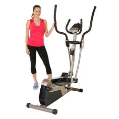 This Exerpeutic 5000 Magnetic Elliptical Trainer has 24 resistance levels and 12 workout programs, and comes with its own mobile tracking app.