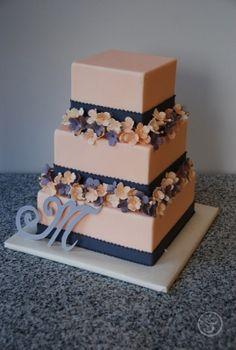 Final Wedding Cake by Laura Miller.  LArt du Gâteau Graduation Showcases Edible Artistry | The French Pastry School