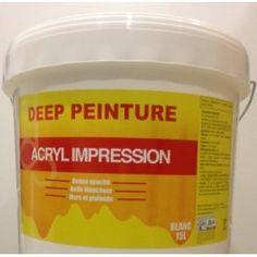 -10% Deep Peinture Acryl Impression 15L 58,05€ TTC Impression phase aqua . Applicable sur les supports secs sains propres . Appliquer par la suite une finition de type acryl Mat . Application : brosse ,rouleau ,pistolet . Nettoyage de outills .: eau Rendement : 8 à 9 m2 .