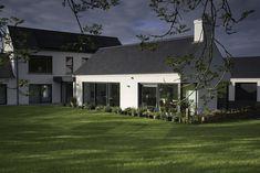 Summerisland Passive house Co Armagh — Paul McAlister Architects House Designs Ireland, Armagh, Large Tv, Sliding Windows, Passive Solar, Passive House, Architects, Living Spaces, Farmhouse