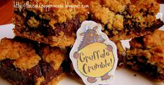 Gruffalo Crumble Bars:   These little bars are my new favourite recipe - they're supereasy to make and absolutely delicious. A friend of min...