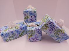 1244 Pastel Foliage Coasters; Set of Four Coasters; Fabric Coasters; Cloth Coasters; Handmade Drink Coasters