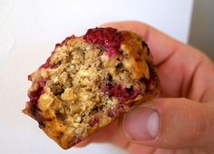 raspberry oatmeal muffins by StrawberryPepper, via Flickr