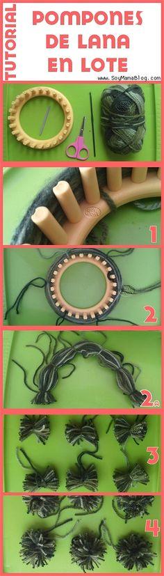 Tutorial Pompones de lana en lote por Soy Mamá Blog