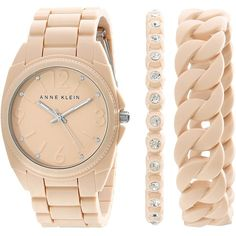 Anne Klein AK-1957BLST Watches ($75) ❤ liked on Polyvore featuring jewelry, watches, accessories, bracelets, anne klein watches, anne klein, stainless steel jewellery, quartz movement watches and anne klein jewelry