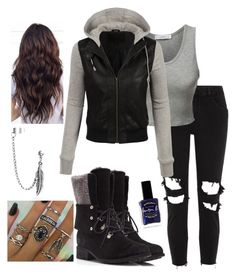 """""""outfit"""" by kwharmony on Polyvore featuring River Island, LE3NO, UGG, Bling Jewelry and Lauren B. Beauty"""