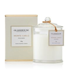 Monte Carlo Triple Scented Candle. Fig & Guava. This scent is divine. Love, love, love Glasshouse.