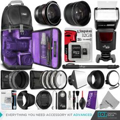Canon Rebel T3i / EOS 600D Everything You Need Accessory Kit  http://www.ebay.com/itm/201485847480