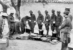 British artillerymen (left) hand out tea and bread to Greek soldiers during the Battle of Crete as a Greek officer and a policemen watch on the right. The Greek armed forces suffered from a shortage of modern weapons and motor transport. Pin by Paolo Marzioli