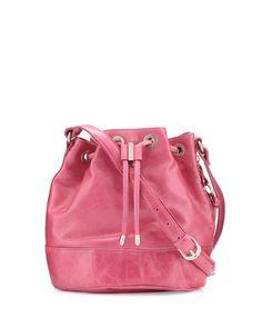 Hobo Tulia Leather Bucket Bag, Begonia, Women's, Size: Small