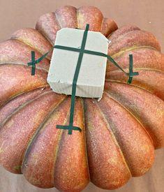 pumpkin arrangement for fall Pumpkin Arrangements, Pumpkin Centerpieces, Fall Floral Arrangements, Thanksgiving Centerpieces, Pumpkin Crafts, Fall Crafts, Diy Pumpkin, Shabby Chic Fall, Easy Fall Wreaths