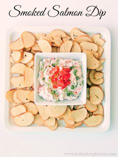 Smoked Salmon Dip - Everything you love about a smoked salmon bagel is all wrapped up neat and tidy in this dip.
