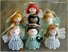 diy angel birdie ornaments, christmas decorations, seasonal holiday decor - So cute!! DIY with PING PONG BALLS, TENNIS BIRDIES, JUTE OR YARN, ACRYLIC PAINT, SMALL PT BRUSHES, KEY RING, SCREW HEAD,RIBBON, and...just visit site for all the details