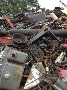 Various scrap metal objects