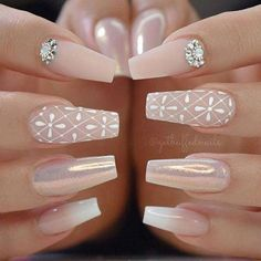 Stylish Acrylic Nail Designs That You Have to Try This Year; Acrylic Nails 2018 Stylish Acrylic Nail Designs That You Have to Try This Year; Gorgeous Nails, Pretty Nails, Fun Nails, Amazing Nails, Nail Polish, Gel Nail, Wedding Nails Design, Starter Set, Super Nails