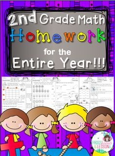 Math homework for the entire year! Review all Common Core domains weekly, and only print one page per student!