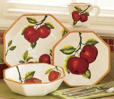 Apple dinnerware