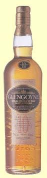 Glengoyne 10 year - Golden yellow in color. Aromas of sweet toffee and popcorn.  On the palate, slightly nutty, with fresh green apples coming through and meeting a wave of licorice of almonds. The finish is sweet and malty.