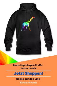Kaufe dir jetzt diesen Hoodie. Lass dir diese und weitere Tier-Zeichnungen auf deine Mode drucken. Lasse dich inspirieren   Schau jetzt in unserem Shop vorbei! Klicke jetzt auf den Link! #Hoodie #Unisex #Herrenmode #Damenmode #Stile #Spreadshirt #Giraffe #Rainbowanimals #Mode #Modeinspiration #Inspiration #Herrenstile #Damenstile