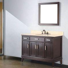 "Augusta 48"" Single Bathroom Vanity Set with Mirror"