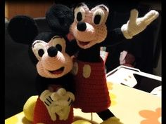 Tutorial Topolino Micky Mouse all'uncinetto parte III - Tutorial Micky Mouse Amigurumi - YouTube