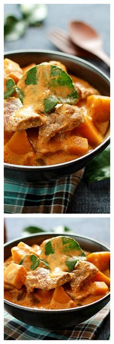 Thai pumpkin curry with beef. Perfect for the pumpkin season and anyone can make this super yummy Thai curry  with this easy recipe | rasamalaysia.com