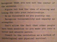 Rules by Kathleen Hanna, Riot Grrrl/Bikini Kill zines aka. AMAZING.