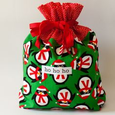 .: October 4 - Christmas Fabric Gift Bags