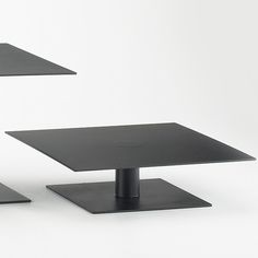 """Iron 8"""" Square Pedestal Tiered Stand"""