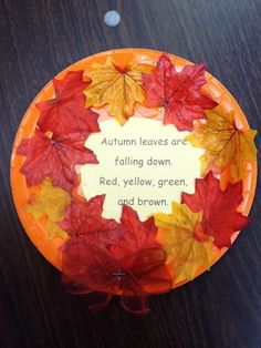 autumn leaves are falling down poem | mrsgreeneskindergartenkorner.blogspot.com