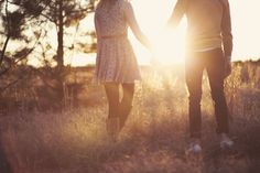 I love this sunlit field, and need to revisit it.  #romantic #couple