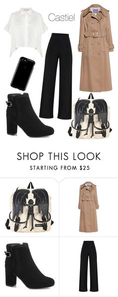 """""""Castiel - Gender Bent"""" by volitairia ❤ liked on Polyvore featuring Hot Topic, AlexaChung and Speck"""