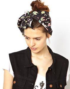 Enlarge ASOS Bird Print Headscarf
