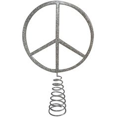 Katie Brown Peace Sign Tree Topper -at Meijer - Ellie would love this on her tree in her room!