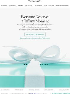 Tiffany & Co. welcome email Newsletter Layout, Email Newsletter Design, Email Newsletters, Web Design, Website Design Layout, Graphic Design, Layout Design, Email Marketing Design, E-mail Marketing