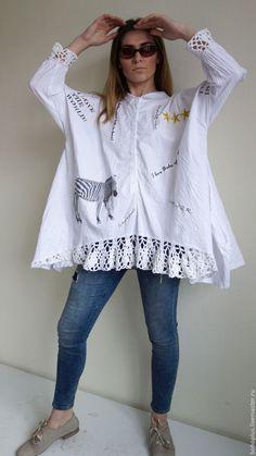 """Купить Блуза в стиле бохо """"Зебра"""" - белый, рисунок, блузка, богемный шик, бохо-стиль"""