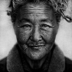 photo by Lee Jeffries, portrait of a homeless woman, beautiful...