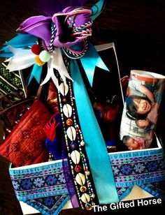 A basket of Tribal crafts designed by The Gifted Horse www.thegiftedhorse.com