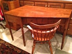 Vintage Ethan Allen Desk With Swivel Chair