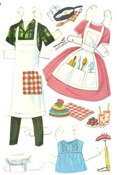 Barbie and Ken cut outs-picnic