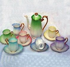 This would be good for a St Patrick's Day Tea Party Royal Albert - Rainbow - Series www.royalalbertpatterns.com